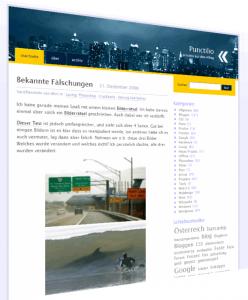 Screenshot vom alten Blogdesign